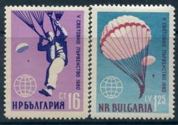 Y85 Bulgaria 1960 1170-1171 World Championship In Parachuting 1960 - Fallschirmspringen