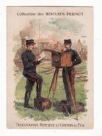 BISCUITS PERNOT   Télégraphie Optique Et Chemin De Fer - Pernot
