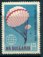 Y85 Bulgaria 1960 1171 World Championship In Parachuting 1960 - Fallschirmspringen