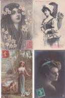 11 CP - FEMMES Et JEUNES-FILLES - Postcards