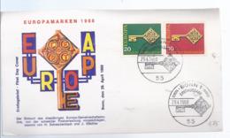 AK-div.32- 60017 - Bonn   -  Ersttag - Europamarken 1968      - , Stpl Vom 19,4,1968 - BRD