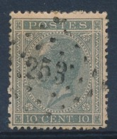 "BELGIE - OBP Nr 17A - Gest./obl. P253  ""MONT-ST-GUIBERT"" (ref. ST 1237) - Witte Streep Onder S Van POSTES - 1865-1866 Profile Left"