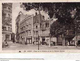 VICHY PLACE DE LA VICTOIRE ET RUE DU GENERAL GALLIENI TBE - Vichy