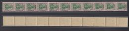 Dt. Reich 150  11er Streifen Germania 1 M Ungefaltet Postfrisch - Germania