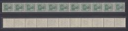 Dt. Reich 85a II  11er Streifen Germania 5 Pf Ungefaltet Postfrisch - Germania