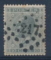 "BELGIE - OBP Nr 17A - Gest./obl. P217  ""LIÈGE"" (ref. ST 1242) - 1865-1866 Profile Left"