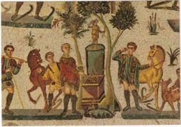 Piazza Armerina - Diaeta Della Piccola Caccia: Sacrificio Ad Artemide - (Mosaico/Mosaic) - Sicilia - Enna