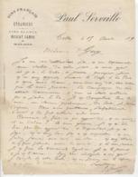 Herault: Paul SERVEILLE Vins, Muscat, Samos & Malaga à Cette / Fact De 1890 - 1800 – 1899