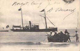 PIE-Z AR-19-1549 : MORGAT. BATEAU A VAPEUR. - Morgat