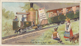 Chromo Suchard Train Chemin De Fer Du Righi - Suchard