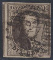 "Médaillon - N°10 Margé + Voisin Obl P37 (8 Barres) ""Eecloo"". TB - 1858-1862 Medallions (9/12)"