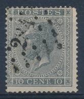 "BELGIE - OBP Nr 17A - Gest./obl. P284  ""OTTIGNIES"" (ref. ST 1244) - 1865-1866 Profile Left"