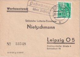 DDR 1957 LETTRE DE PAHNSTANGEN  ÜBER SCHLEIZ - [6] République Démocratique