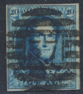 "Médaillon - N°11 Margé Obl P37 (8 Barres) ""Eecloo"". Luxe ! - 1858-1862 Medallions (9/12)"