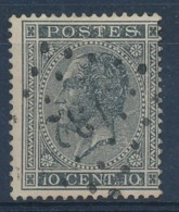 "BELGIE - OBP Nr 17A - Gest./obl. P132  ""FONTAINE-L'EVEQUE"" (ref. ST 1245) - 1865-1866 Profile Left"