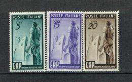 ITALY 1949 ERP MH Stamps, Sassone 601/3 - 1946-60: Ungebraucht