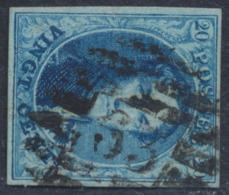 "Médaillon - N°11 Margé Obl P63 (8 Barres) ""Iseghem"" - 1858-1862 Medallions (9/12)"