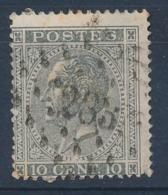 """BELGIE - OBP Nr 17A - Gest./obl. P283  """"OSTENDE"""" (ref. ST 1246) - 1865-1866 Profile Left"""