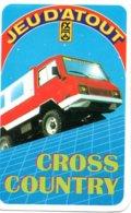 Jeu  D'atout Quartettes CROSS COUNTRY Camion Car Auto Card - Jeu Des 7 Familles Playing Cards - Barajas De Naipe