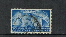 ITALY 1949 UPU Used Stamp, Sassone 609 - 6. 1946-.. República