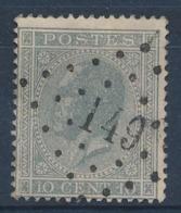 """BELGIE - OBP Nr 17A - Gest./obl. P149  """"GILLY"""" (ref. ST 1247) - 1865-1866 Profile Left"""