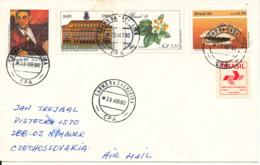 Brazil Cover Sent To Czechslovakia 23-4-1990 Topic Stamps - Brazilië