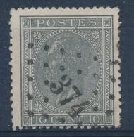 "BELGIE - OBP Nr 17 - Gest./obl. P374  ""VERVIERS"" (ref. ST 1248) - 1865-1866 Profile Left"
