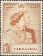GIBRALTAR YVERT NUM. 120 NUEVO SIN GOMA - Gibraltar