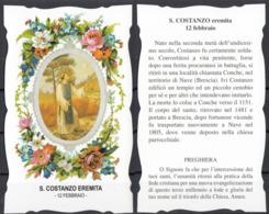Santi Del Calendario. - 12 Febbraio - S. Costanzo Eremita - Santini