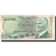 Billet, Turquie, 10 Lira, KM:180, SUP - Turkije
