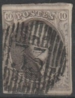 COB N° 10 - Obl. D33 Marbais / 4 Marges, Voisins - 1858-1862 Medaglioni (9/12)