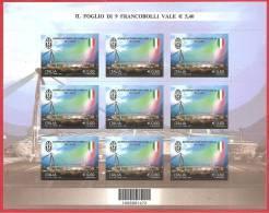 ITALIA 2012 - FOGLIETTO - MINIFOGLIO - JUVENTUS CAMPIONE D'ITALIA - 0,60 € X 9 - 6. 1946-.. Republic
