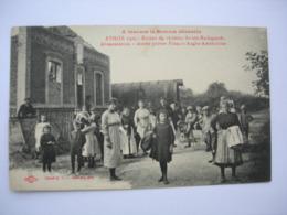 CPA Athies . Somme Dévastée.80. 1919. Belle Animation+++ Ruines Du Chateau Sainte Radegonde. - Frankrijk