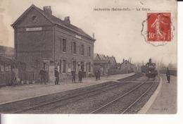 INCHEVILLE - 1909 - La Gare - Locomotive - Animation - - France