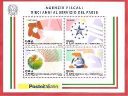 ITALIA REPUBBLICA  - FOGLIETTO MNH  - 2011 - AGENZIE FISCALI - € 0,60 X 4 - SASSONE BF 67 - 6. 1946-.. Republic
