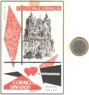 ETIQUETA DE HOTEL  -PENSAO CORAÇOES UNIDOS  -ALCOBAÇA  -PORTUGAL - Adesivi Di Alberghi