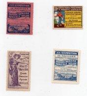 Erinnophilie Vignette  Bruxelles 1914-1926-1930-1932 Grande Semaine Agricole Belge Les 4 Vignettes - Erinofilia