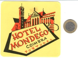 ETIQUETA DE HOTEL  - HOTEL MONDEGO  -COIMBRA  -PORTUGAL - Hotel Labels