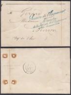 """FRANCE LETTRE DATE """"PALAIS DES TUILERIES 31/11/1858"""" SERCICE DE L'EMPREUR VERS VIERZON (VG) DC-4616 - Postmark Collection (Covers)"""