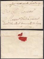 """FRANCE LETTRE DE VIDAUBAN 21/05/1769 VERS LORGUES MAN""""PAR EXPRES POUR LE SERVICE DU ROY""""(VG) DC-4623 - Marcophilie (Lettres)"""