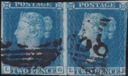 Great Britain       .   Yvert    .   4  Paire  (1841)       .       O      .       Cancelled .   /   .   Gebruikt - Gebruikt