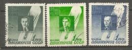 """RUSSIE -  Yv. PA   N° 67 à 69  (o)  Ballon """"Sirius""""   Cote  7,5  Euro  BE  2 Scans - 1923-1991 USSR"""
