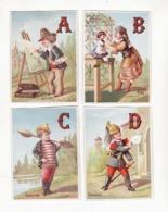 Série Complète De 25 Chromos    ALPHABET    Zouave, Suissesse, Bébé, Gendarme, Jongleuse, Nourrice Etc... - Andere