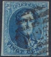"Médaillon - N°11 Margé Obl P125 (8 Barres) ""Vilvoorde"" - 1858-1862 Medallions (9/12)"