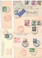 Lot Deutsches Reich Zeppelin-Sonderstempel Auf Riesen Briefeausschnitten - Zeppeline