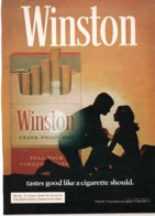 Pubblicità Sigarette Winston (da Rivista Play Boy USA 1968) - Tabac (objets Liés)