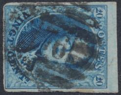 "Médaillon - N°11 Margé + BDF Obl P176 (8 Barres) ""Herstal"" - 1858-1862 Medallions (9/12)"
