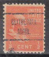 USA Precancel Vorausentwertung Preo, Locals Minnesota, Clitherall 723 - Vereinigte Staaten