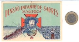 ETIQUETA DE HOTEL  - PENSAO INFANTE SAGRES  -SAGRES  .PORTUGAL - Hotel Labels