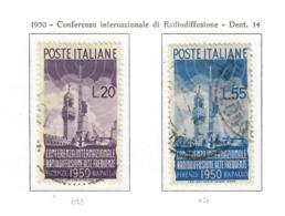 ITALIA 1950 - CONFERENZA INTERNAZIONALE DI RADIODIFFUSIONE - USATI - 1946-60: Usati